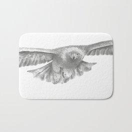 Golden eagle in flight, Aquila Chrysaetos Bath Mat
