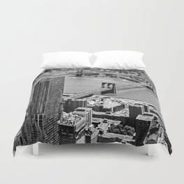 Brooklyn Bridge View - New York City Duvet Cover