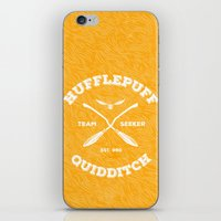 quidditch iPhone & iPod Skins featuring Hufflepuff Quidditch by Sharayah Mitchell