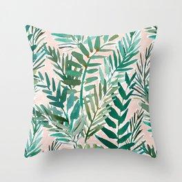 LUSH BLUSH Sunset Palms Throw Pillow