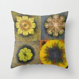 Rancidified Make Flower  ID:16165-054051-44610 Throw Pillow