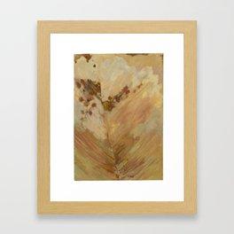Peach Leaf Framed Art Print