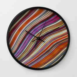 Wild Wavy Lines 43 Wall Clock