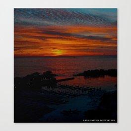 Lake Michigan Sunrise l'Orange (Chicago Sunrise/Sunset Collection) Canvas Print