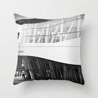 mercedes Throw Pillows featuring MERCEDES-BENZ MUSEUM by GL-ART-PHOTOGRAPHY