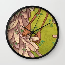 The Other Side of the Bird Wall Clock