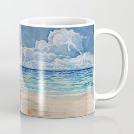 Peep on the Beach Coffee Mug