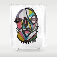 chihiro Shower Curtains featuring Wild fella by Chihiro Streetcat