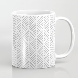 Abstract Leaf Pattern in Gray Coffee Mug