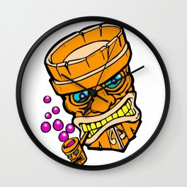 Mr Tiki the bubble blow'n machine Wall Clock