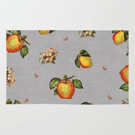 fruit and blossoms Rug