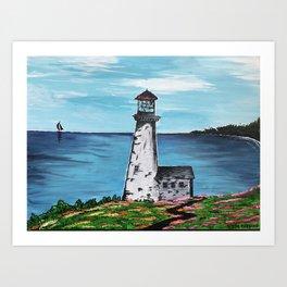 Lighthouse Cove Art Print