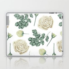 Flower Shop Ivory Cream Roses Pattern Laptop & iPad Skin