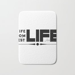 Wife Life Mom Life Best Life Mother's Day Gifts Bath Mat