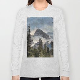 The Three Sisters - Canadian Rocky Mountains Long Sleeve T-shirt