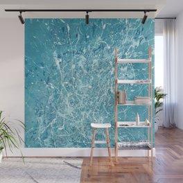 Splashy waves 03 - abstract art painting Jackson pollock style art Wall Mural