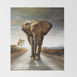 The Elephant Throw Blanket