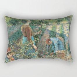 Camille Pissarro - Apple Picking Rectangular Pillow