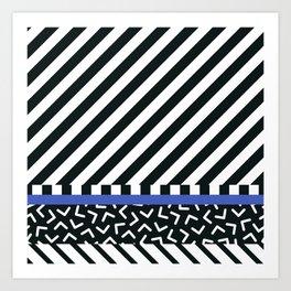 Memphis pattern 89 Art Print