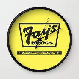 Fay's Drugs | the Immortal Yellow Bag Wall Clock