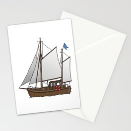 Sailing boat cutter Stationery Cards
