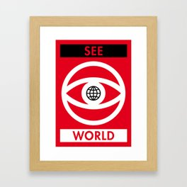 Illustrated new year wishes: #9 SEE WORLD Framed Art Print