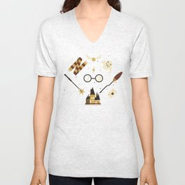 Wizarding Pattern Unisex V-Neck