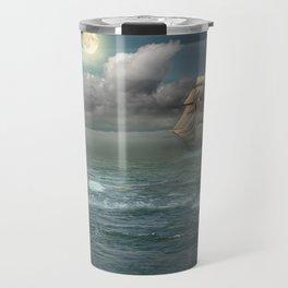 Lighthouse Under Back Light Travel Mug
