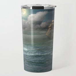 Lighthouse Under Back Light Travel Mug