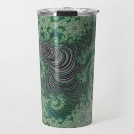 Green Spirals Travel Mug