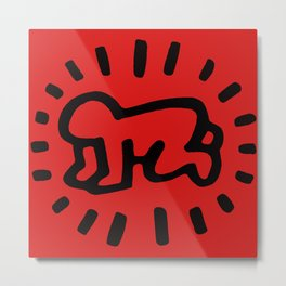 Keith Haring: Radiant Baby from Icons series, 1990 Metal Print