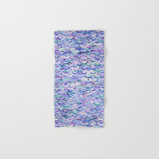 Marble Mosaic in Amethyst and Lapis Lazuli Hand & Bath Towel