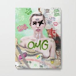 The Punk Queen Miley C Metal Print