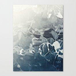 Ultramarine Marble Canvas Print