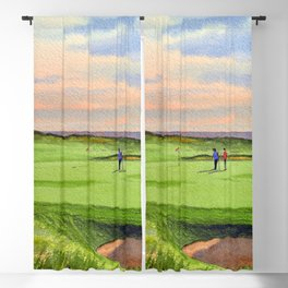 Kingsbarns Golf Course Scotland 9th Green Blackout Curtain
