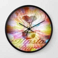 Hipsta Love  Wall Clock