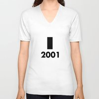 2001 a space odyssey V-neck T-shirts featuring 2001: A Minimalist Space Odyssey by João Malossi