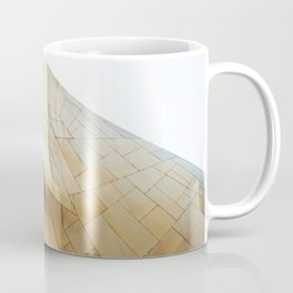 Golden abstract structure at EMP Museum Seattle Coffee Mug