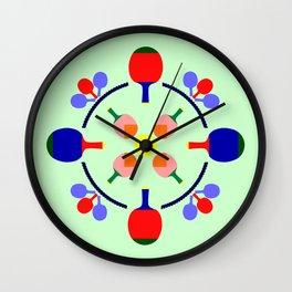 Table Tennis Design Wall Clock