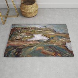 Edvard Munch - Coastal Landscape Rug