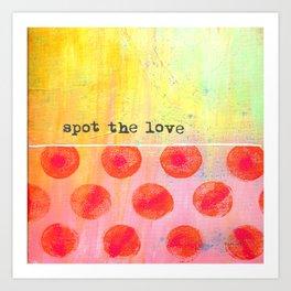 """""""Spot The Love"""" An original design by PhillipaheART Art Print"""