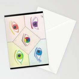 Prismatic Eyes Stationery Cards