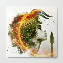 Afro Warrior Metal Print