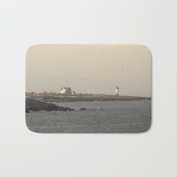 Hazy Straitsmouth lighthouse Bath Mat