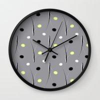 dots Wall Clocks featuring Dots by Dorothy Pinder