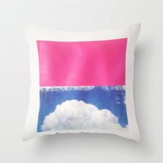 SKY/PNK Throw Pillow