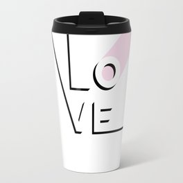 True Love Never Ends - black, white & pink #love Travel Mug
