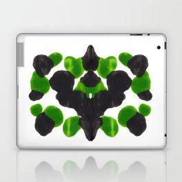 Lime Green & Black Ink Blot Pattern Laptop & iPad Skin