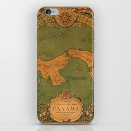 Historical Map of Panama iPhone Skin