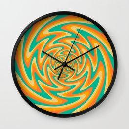 Retro Wavy 70s Abstract art Wall Clock